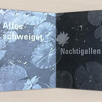 Leporello Alles schweiget, 2018, Hochdruck, Laserduck, 12.6 x 9.3 cm